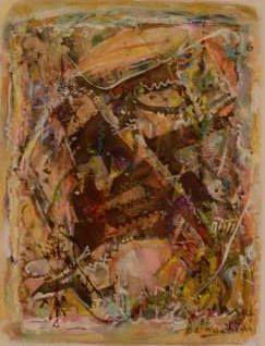 Suite X - Technique mixte sur papier (gouache, encre, pastel) 48x58 cm, 2015
