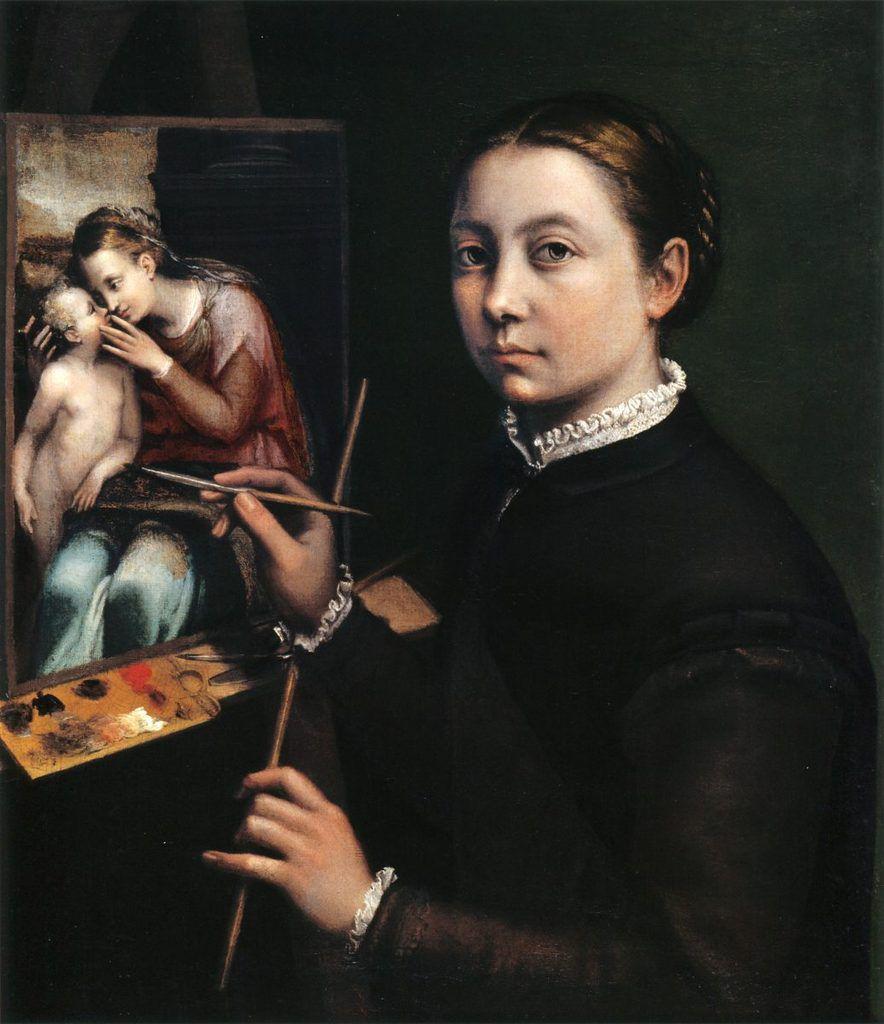 Sofonisba Anguissola – Autoportrait au chevalet 1556