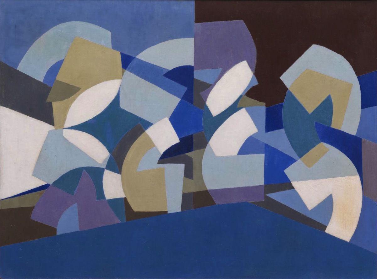 Saloua Raouda ChoukairComposition in blue 1947-51
