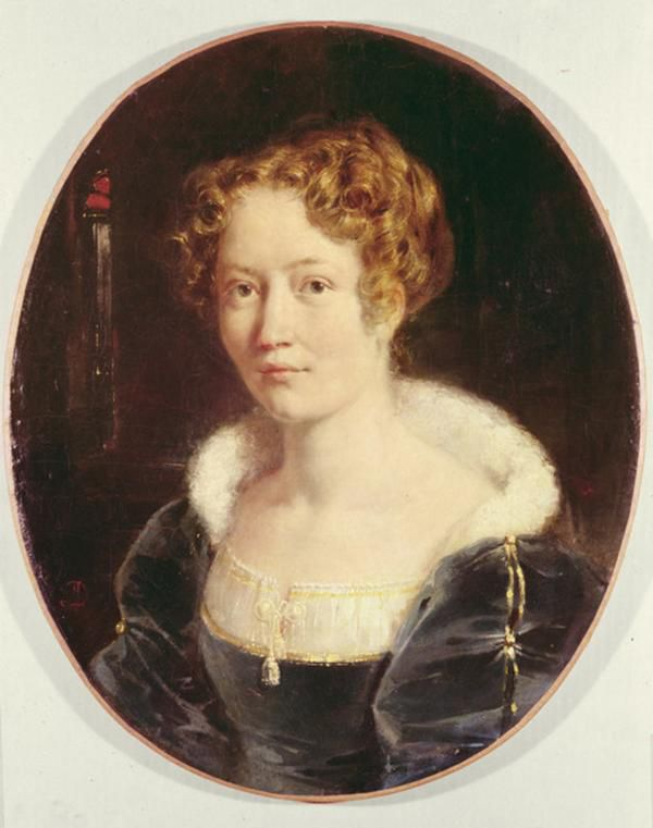 Achille Devéria - Portrait de Laure Devéria, épouse du peintre, 1827