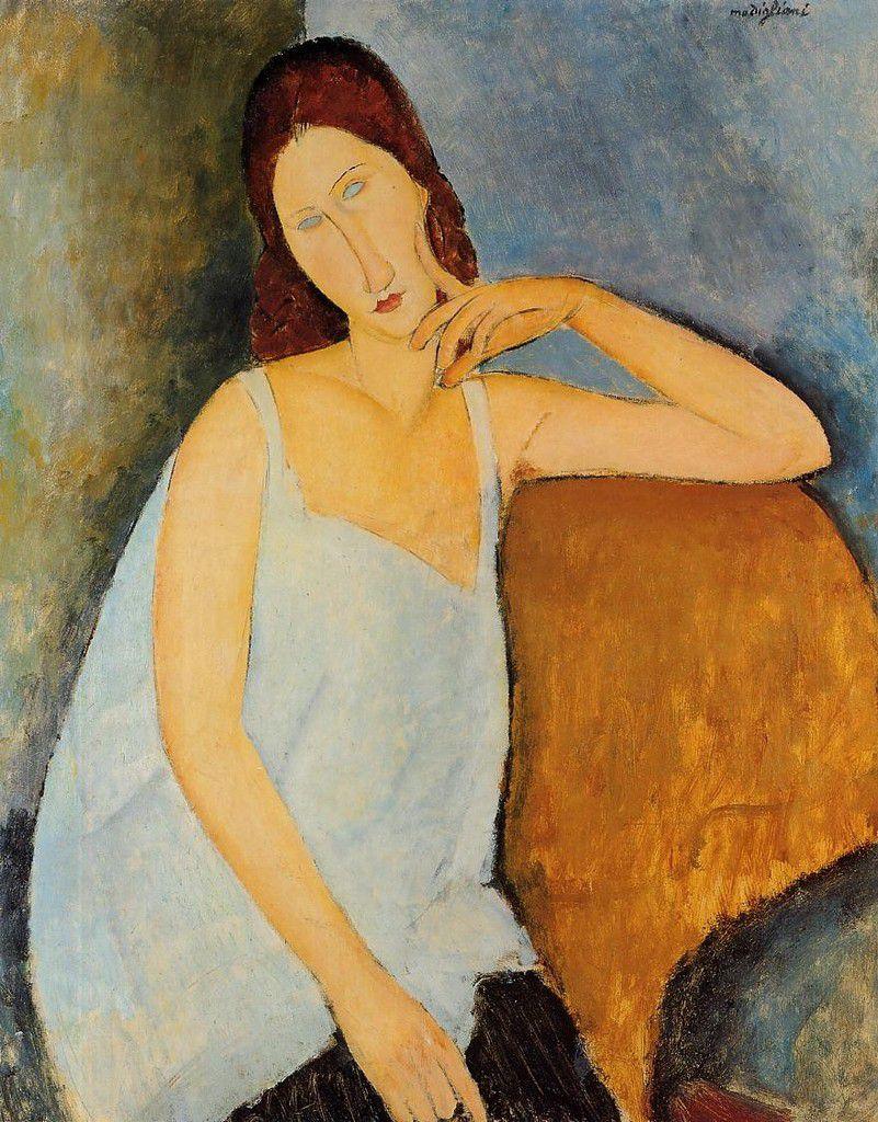 Modigliani - Jeanne Hébuterne (compagne et modèle de l'artiste) 1918