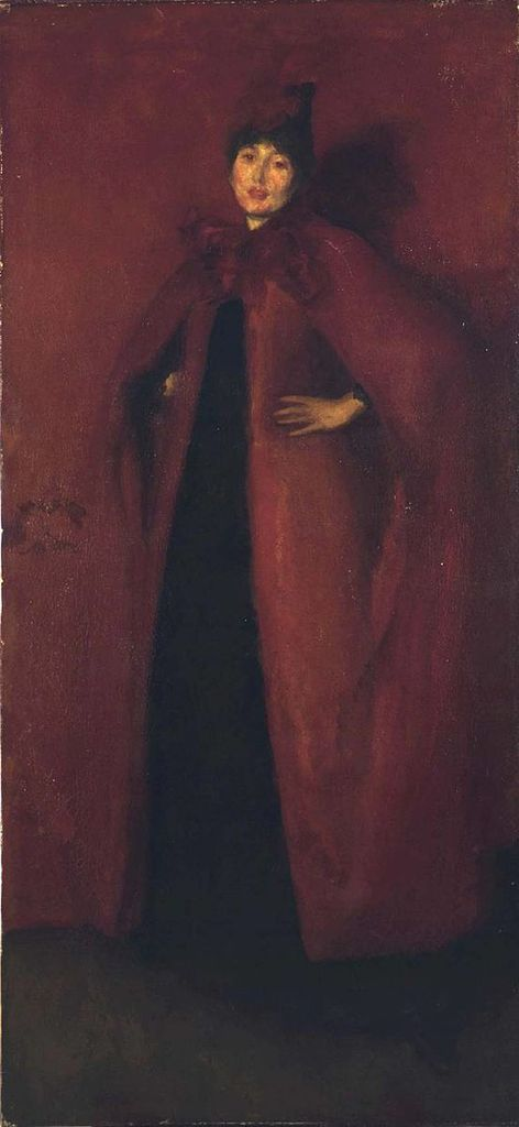 James Whistler - Harmony in Red (Béatrix Whistler, femme de l'artiste), 1885