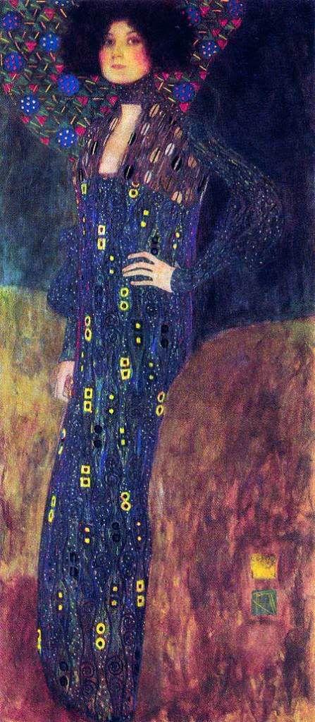 Gustav Klimt - Portrait d'Emilie Flöge, compagne du peintre, 1902