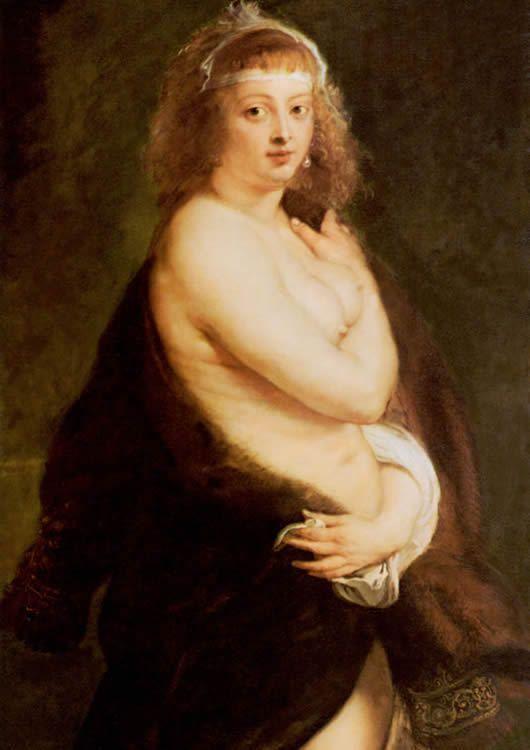 Rubens- Hélène Fourment la fourrure, 1638
