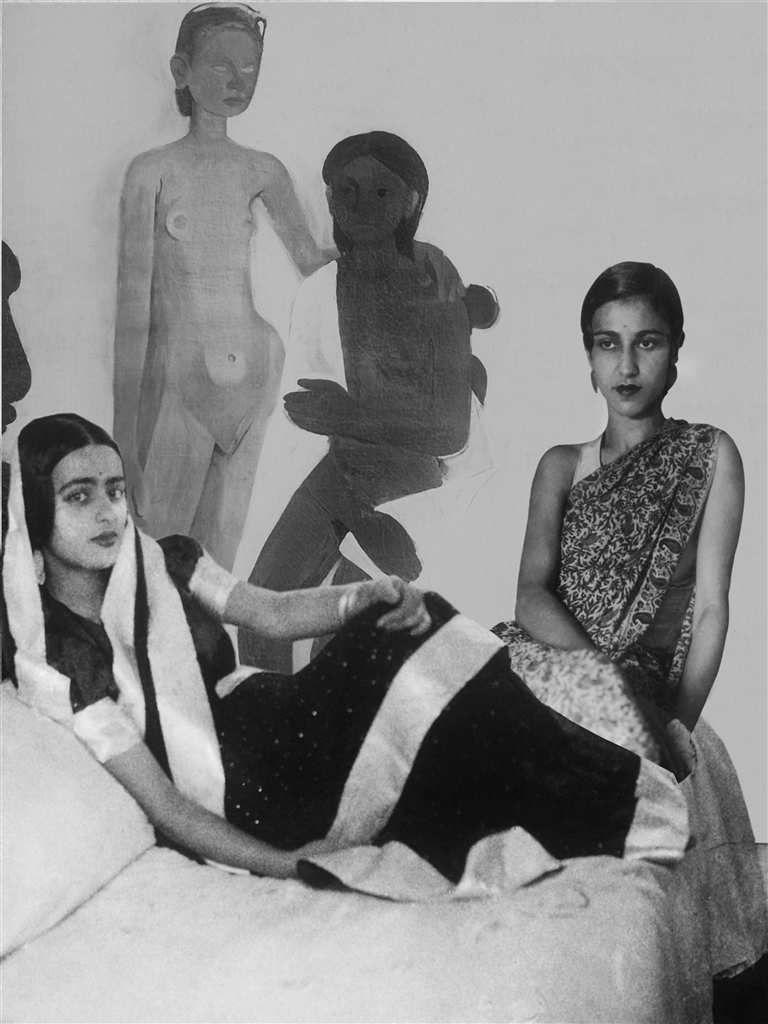 Amrita, sa soeur Indira et le tableau Two girls