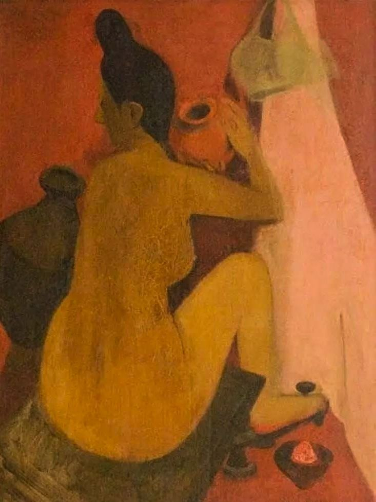 Amrita Sher-Gil - Femme au bain, 1940