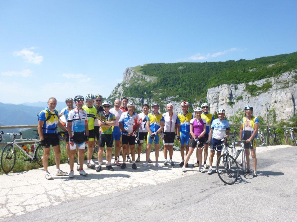 Toute l'équipe au Col de Rousset.
