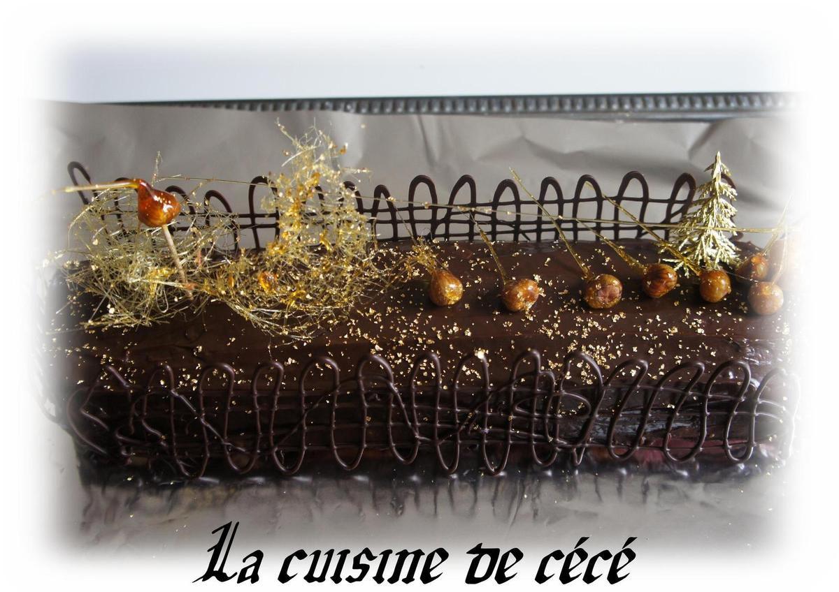 Bûche framboise chocolat