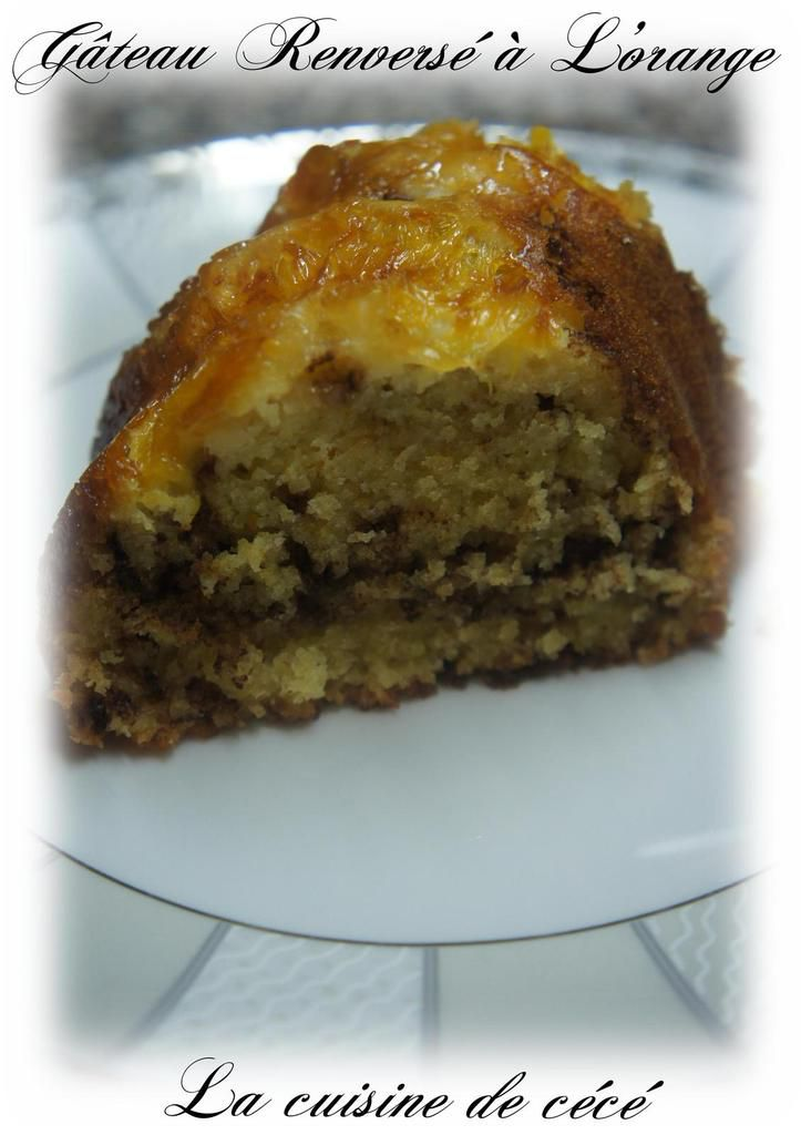 Gâteau Renversé à L'orange