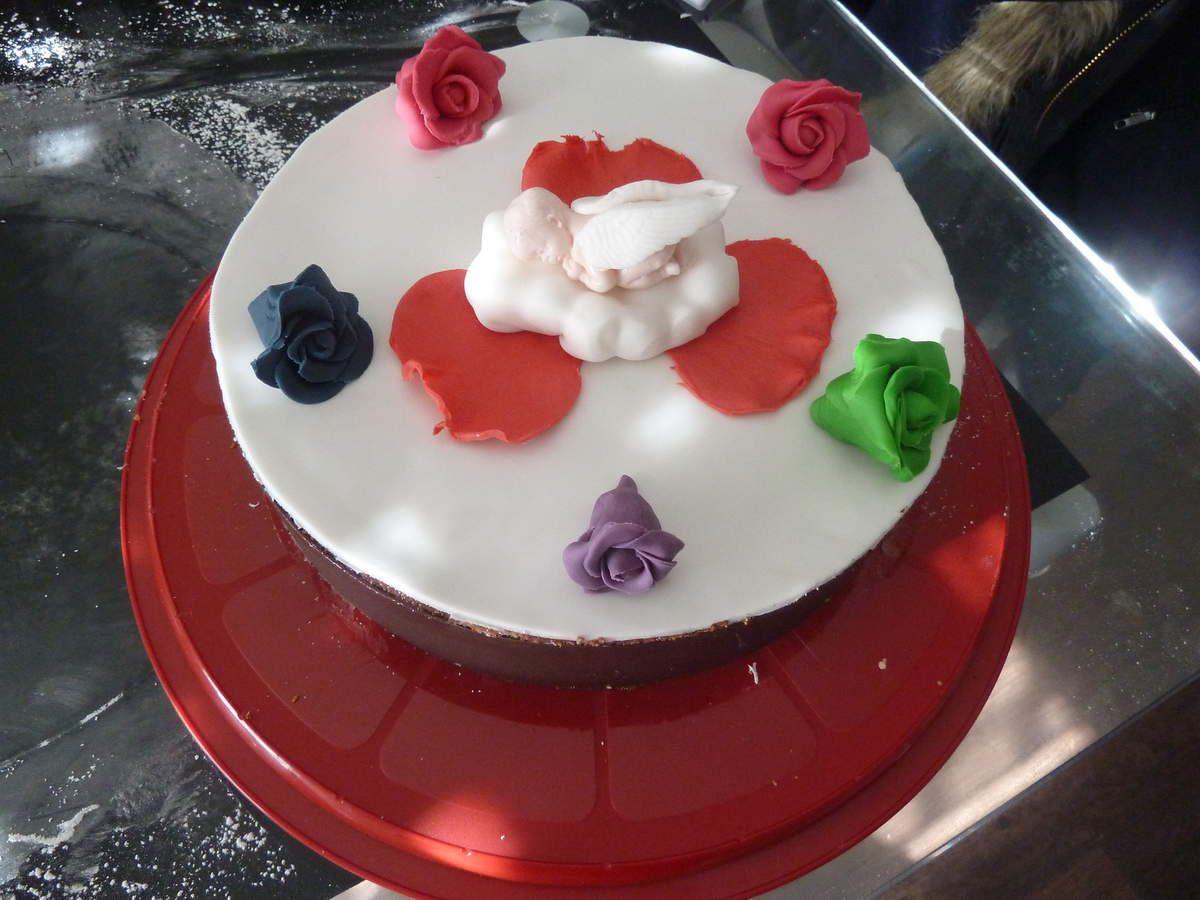 Gâteau inspiration fraisier d'ange