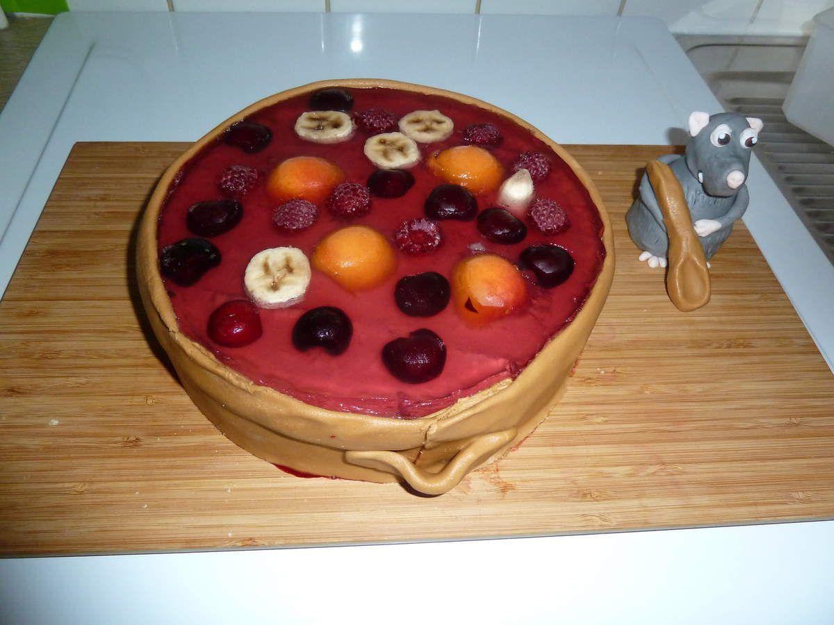 Gâteau Ratatouille et sa marmite