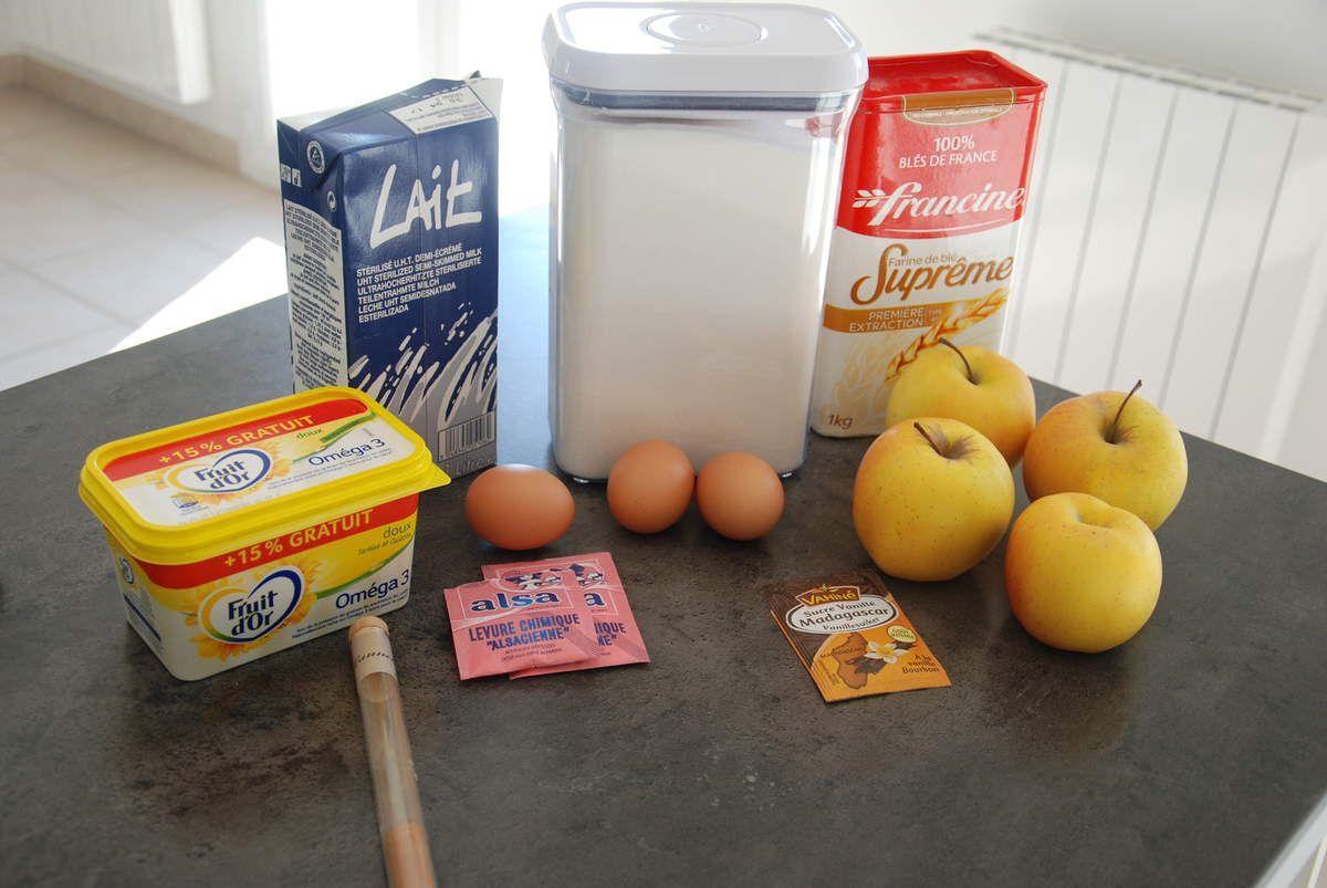 Le gâteau moelleux aux pommes et cannelle