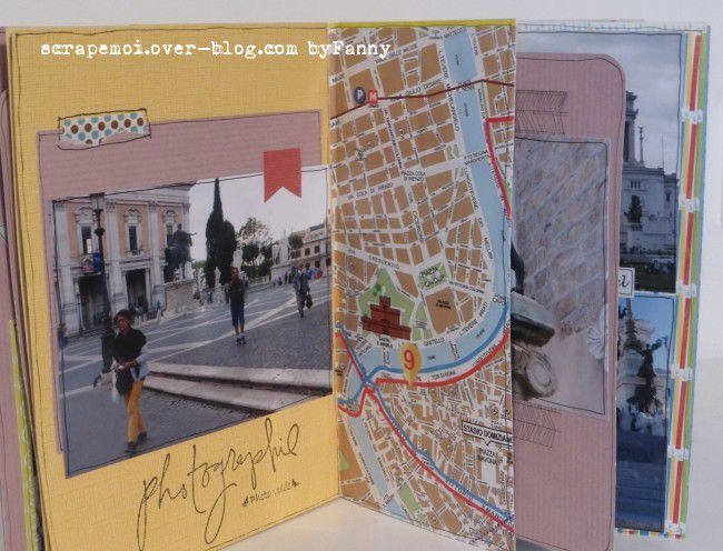 mini album en scrap sur Rome