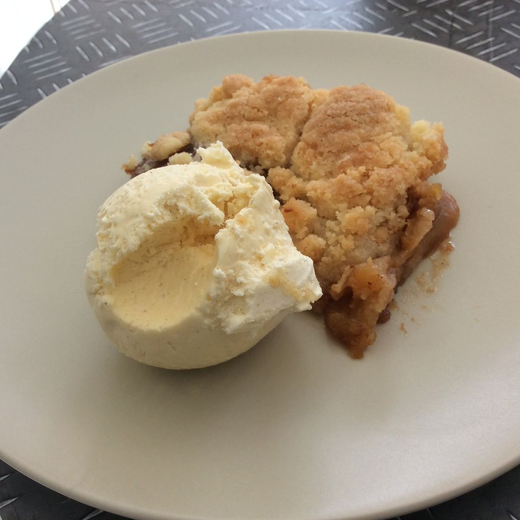 Crumble pommes caramelisees