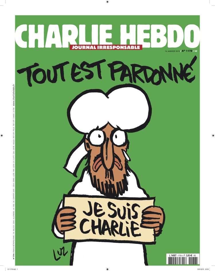 L'édition Charlie Hebdo du 14 au 19 janvier 2015 qui restera en vente pendant huit semaines.