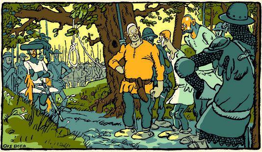 """Illustration tirée du """"Livre de la guerre de Cent Ans"""", de Gus Bofa (La Renaissance du livre, 1921, réédition augmentée et restaurée Cornélius, 2007)."""