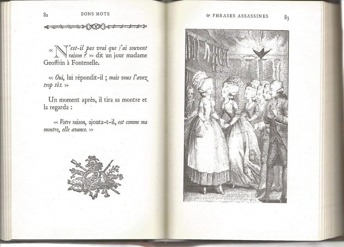 ... Madame Geoffrin à Fontenelle !