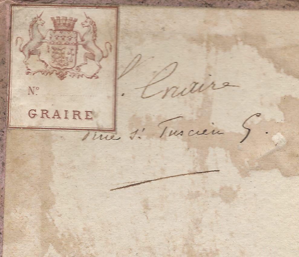 "- Ex-libris ""Graire"""