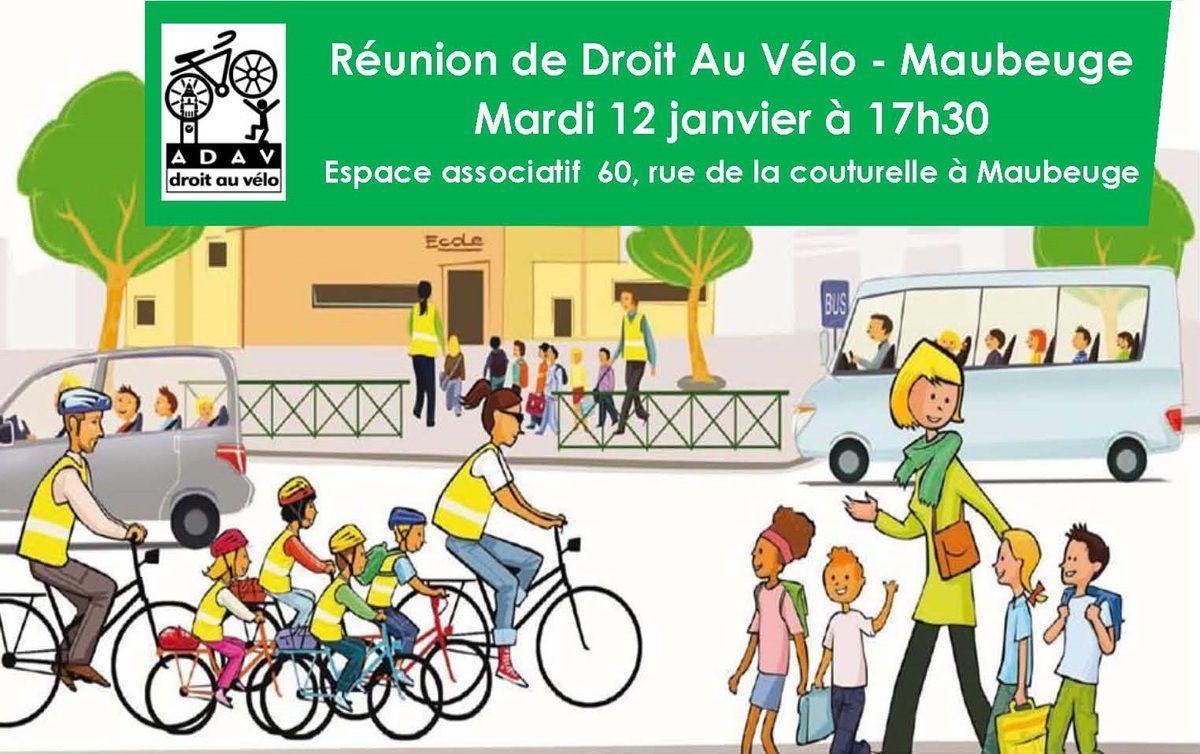 Prochaine réunion de Droit Au Vélo Maubeuge
