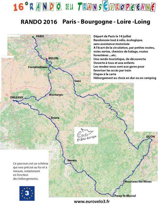 Le projet de la rando 2016, la 16ème rando de CycloTransEurope