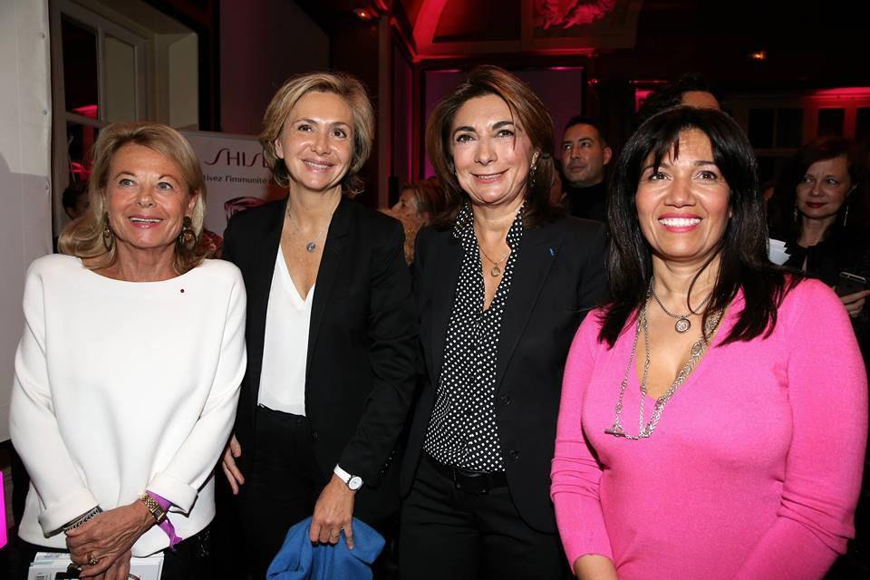 De gauche à droite : Sophie de Menthon, Valérie Pécresse, Martine Vassal et Samia Ghali