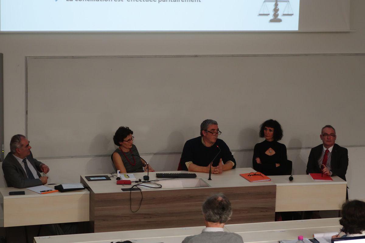 De gauche à droite : Michel Pinet , Claude Borghetto, Dominique Holle, Christine Montagnon et Jean Marc Houée