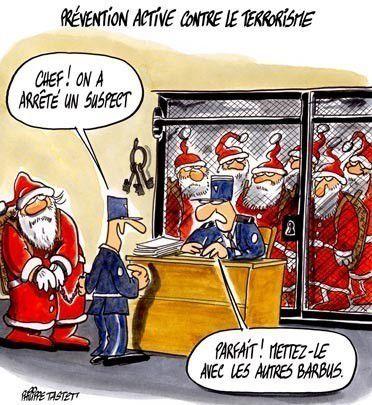 Daesh dans l'humour....mais avec une pensée émue pour les familles des victimes pour lesquelles ce Noël va être très dur.....