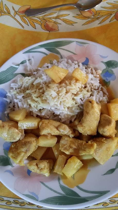 POULET A L ANANAS ( ACTIFRY)