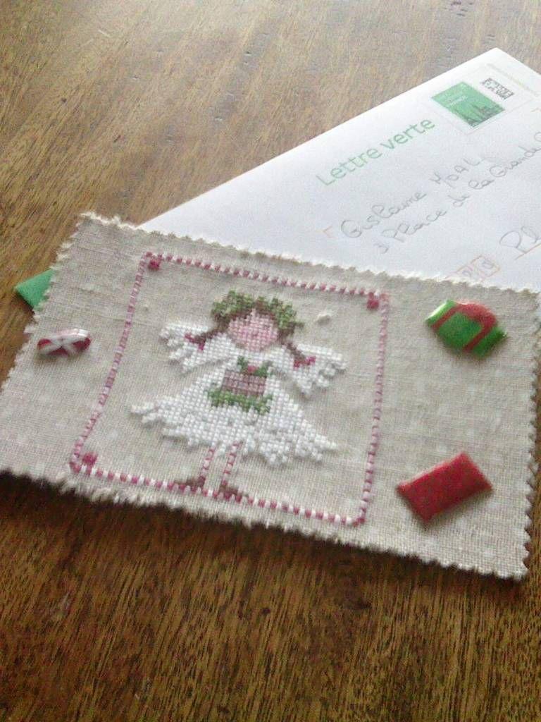 2) * Groupe: cartes Brodées * les photos * Cartes Noël-Nouvel An *