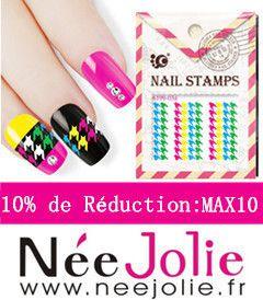 Nail Art effet sable avec les Paillettes Poudres Décoration Née Jolie....