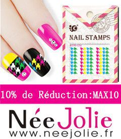 Nail Art Stamping + test Tampon Clear Née Jolie....