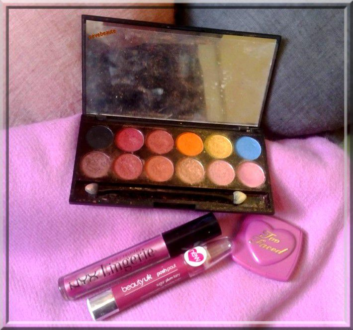 Maquillage Jour Coloré ( Sleek, Nyx, Too Faced, Beauty Uk )....