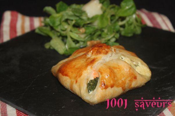 Feuilletés saumon brocolis