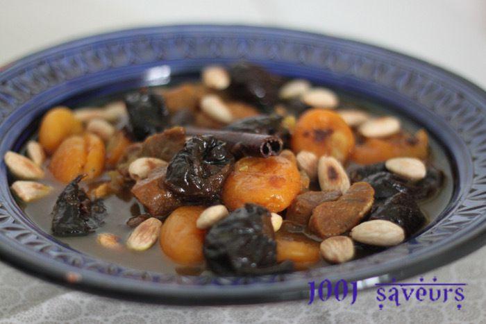 Lham lahlou (viande aux fruits secs)