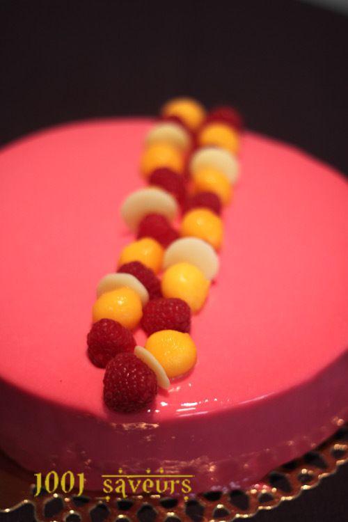 Entremets Fruits rouges et Mangue