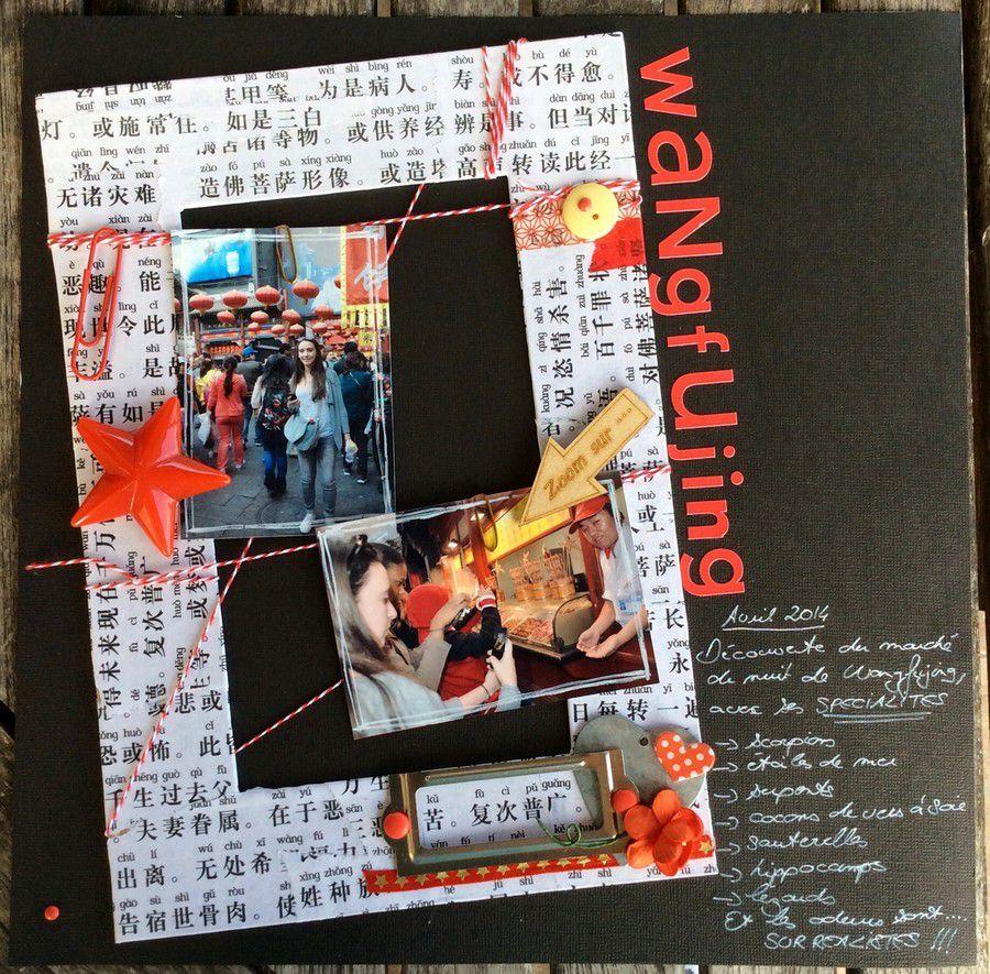 Page de scrap : Marché de Wangfujing à Pékin