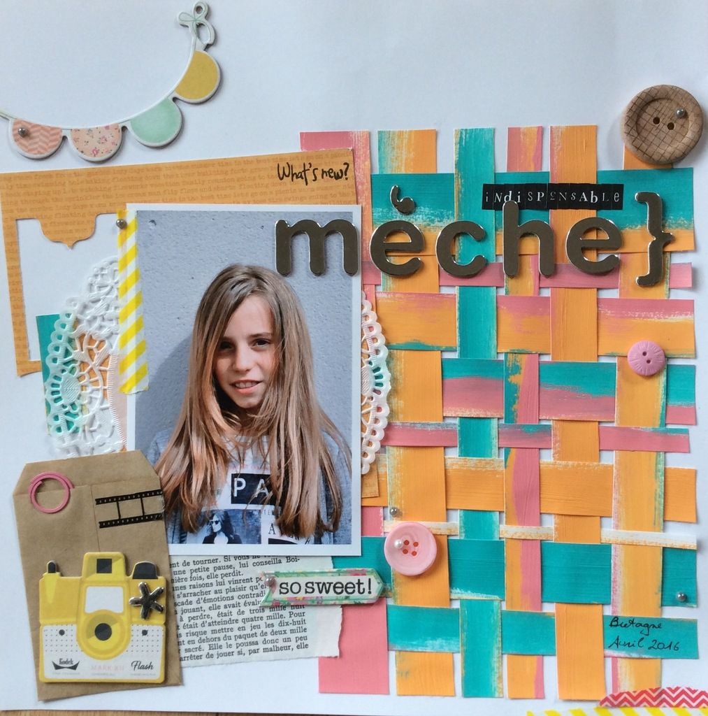 Page de scrap : indispensable mèche