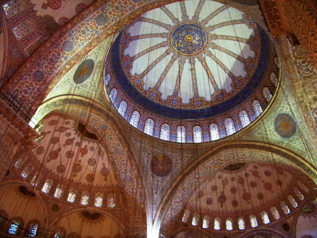 Intérieur de la Mosquée bleue qui porte bien son nom...