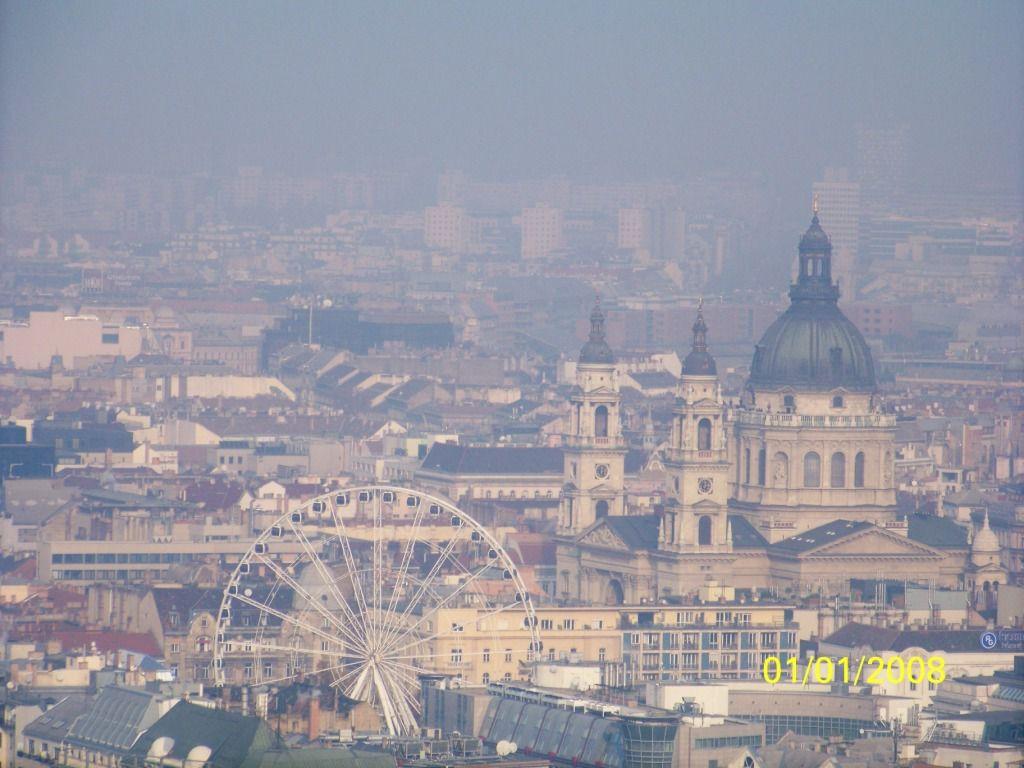Vue de la ville au sommet de la citadelle.