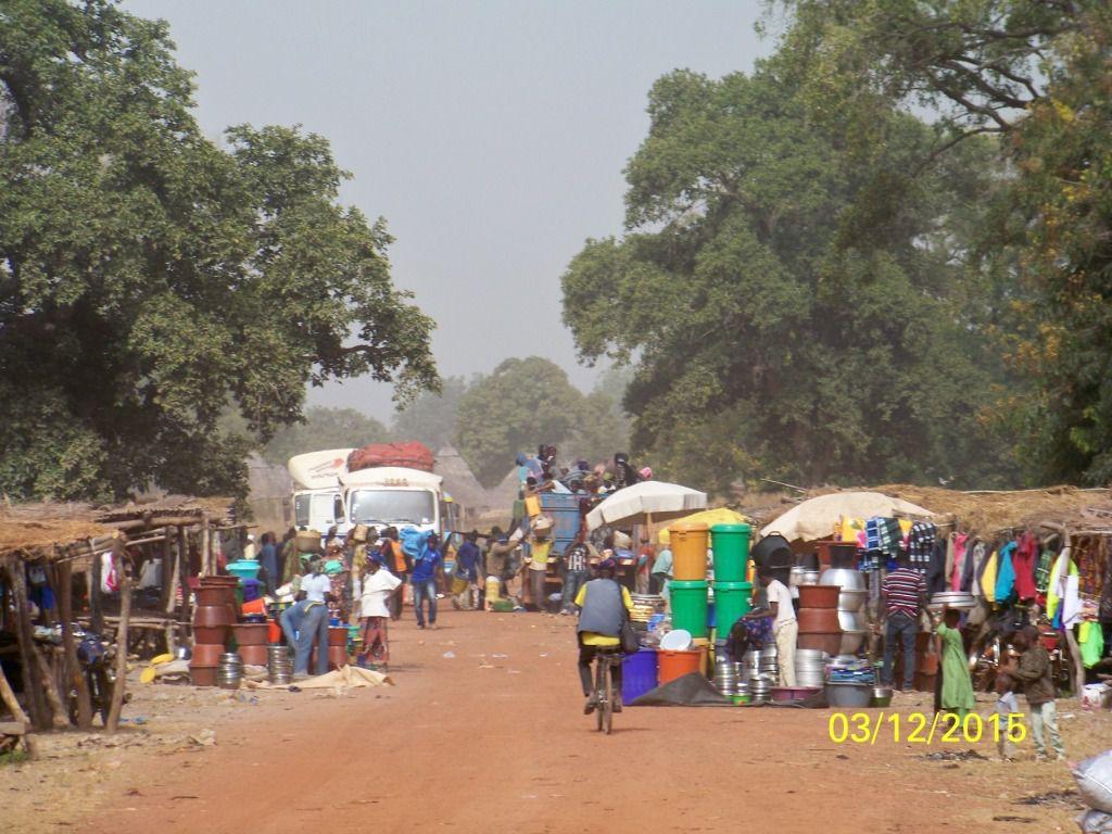 Le long de la route remontant à kénieba des villages de chercheurs d'or ont vu le jour.