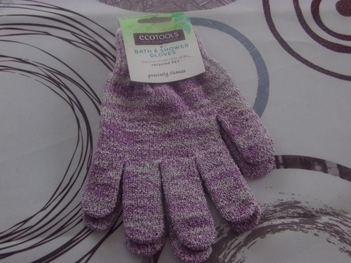 gants gommant en plastique recyclé écotools