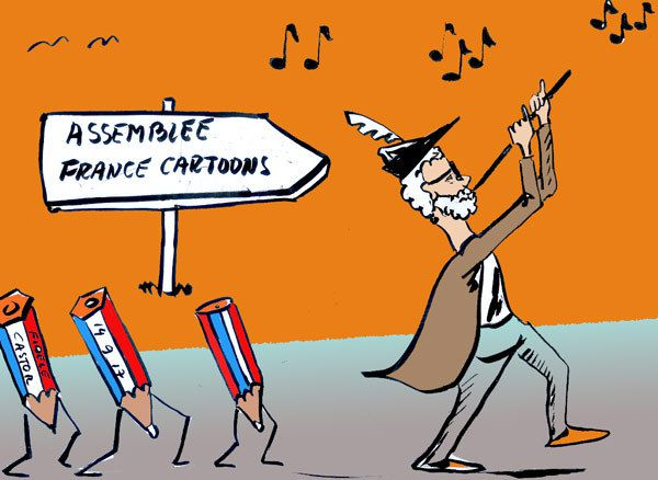 ASSEMBLÉE GENERALE DE FRANCE CARTOONS