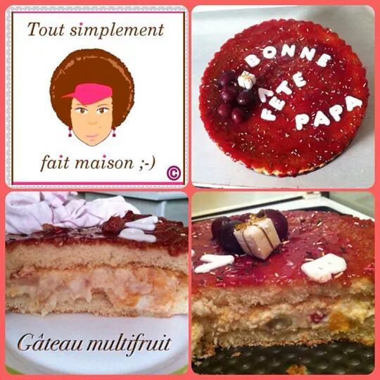 Gâteau au cocktail de fruits