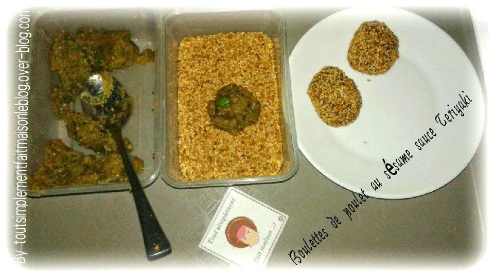 Boulettes de poulet au sésame et sauce Yakitori  Bataille Food #21