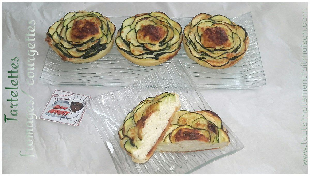 Tartelettes fromages/courgettes