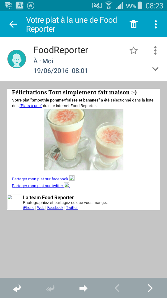 Merci FOOD REPORTER ��