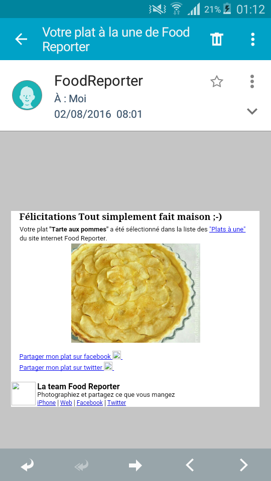 Merci Food Reporter