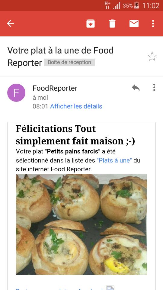 Merci à Food Reporter �
