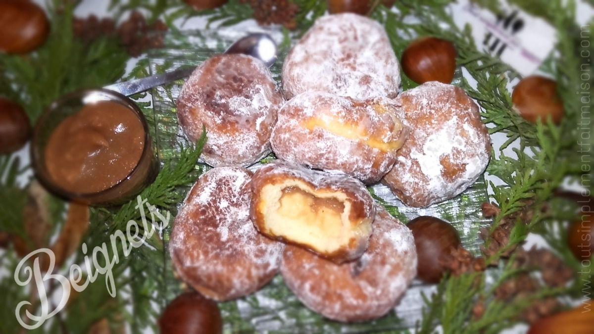 Beignets fourrés à la crème de Marrons