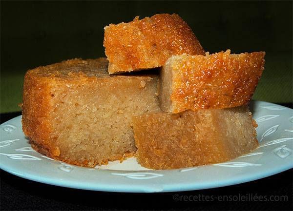 gâteau de manioc au lait de coco - agir avec madagascar